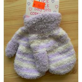 Pletené rukavice (palčáky)1-3 roky 965050 lila