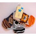 Crafted Animal Ponožky 3 páry vel.0-3 měs.