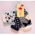 Crafted Nautical Ponožky 3 páry vel.0-3 měs.