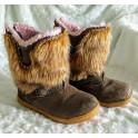 vel.31 Hi Tec Prairie Dívčí Zimní Kožená Obuv