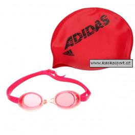 Adidas Plavecká Sada PINK 885463 věk 5-8 let
