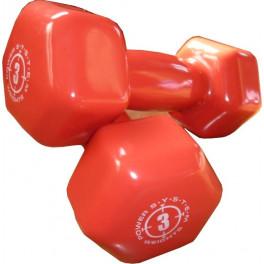 POWER SYSTEM Fitness jednoručky VINYL DUMBELL 3kg